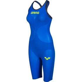 arena Powerskin Carbon Air 2 Full Body Short Leg Closed Back Women electric blue/grey/yellow